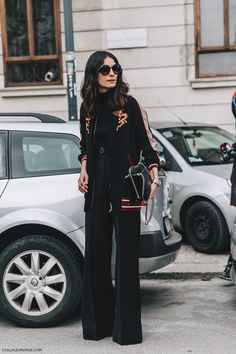 Street Style, Collage Vintage at Milan fashion Week. Moda Chic, Moda Boho, Look Fashion, Fashion Outfits, Fashion Trends, Trending Fashion, Grunge Outfits, Fall Fashion, Leila Yavari