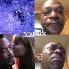 😭😭😭😭😭😭😭 that was so me at the movie theater except I ball my eyes out when Spider-Man was crying about Ironman dying😭😭😭😭😭 Films Marvel, Memes Marvel, Avengers Memes, Marvel Funny, Marvel Dc Comics, Marvel Avengers, Female Avengers, Tony Stark, Marvel Universe