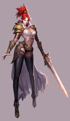 ArtStation - 여기사, Kim Sumin Fantasy Female Warrior, Female Armor, Female Knight, Warrior Girl, Fantasy Armor, Fantasy Art Women, Dark Fantasy Art, Fantasy Girl, Fantasy Character Design