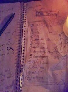 From Yongguk's twitter!! Looks like the track-list for the new album!! :'D YAYAYAYYAYAYAYAYAYYY! 13 tracks!! :D