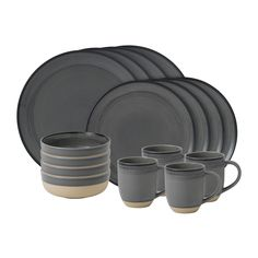Inspired by her love of artisanal design, the ED Ellen DeGeneres Brushed Glaze Dinnerware transforms your table with simply chic style. Beautifully crafted by Royal Doulton, this sophisticated stoneware is perfect for everyday and casual entertaining. Blue Dinnerware, Stoneware Dinnerware, Royal Doulton, Ed Ellen Degeneres, Old Mattress, Grey Bedding, Side Plates, Cereal Bowls, Gray