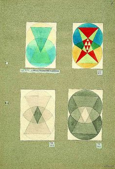  Gertrud Arndt, Logical layering, study from the course with Paul Klee, 1923/24