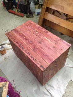 Cedar hope chest.