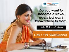 Do you want to become a travel agent but don't know where to start? Join TBA as Partner and Travel Agent. know more visit : http://www.travelbookingagent.in/