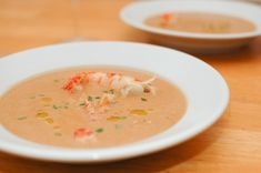 Lobster bisque: one of my many favorite seafood dishes