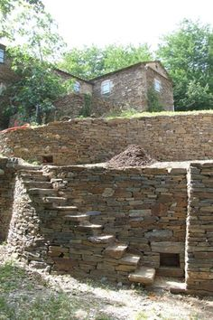 Parc National des Cévennes North Of Montpellier Landscape Steps, Landscape Architecture, Landscape Design, Garden Design, Stone Cabin, Stone Retaining Wall, Stone Masonry, Dry Stone, House On The Rock