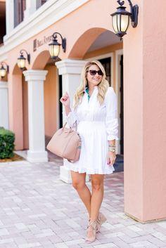 Outfit | Seaglass Necklace White Dress - SHOP DANDY | Shop Dandy Blog | Just Dandy by Danielle