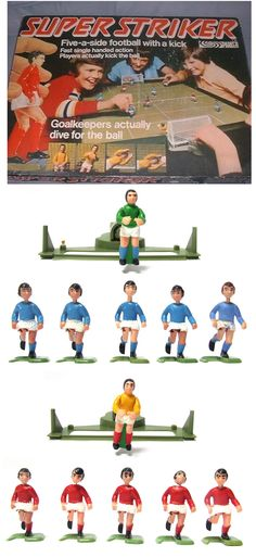 Easily the piece de resistance of table football games. Super Striker from Parker with it's authentic diving goalkeepers! They were no Peter Shiltons but kept us amused for hours.Bless you, Parker Games. 1970s Toys, Retro Toys, Vintage Toys, Childhood Games, My Childhood Memories, Retro Games, Fun Games, Woodlice, Parker Games
