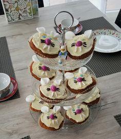 Hasenmuffins zu Ostern #muffins #cupcakes #hasenmuffins #hase #ostern