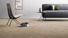 Visgraat PVC vloer - Module Moods Herringbone Short 168 (Blackjack Oak 22220)