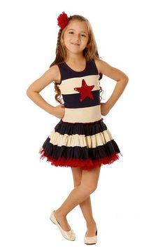 Ooh! La, La! Couture 4th Of July Sequin Star Dress