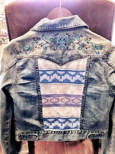 DIY Clothes DIY Refashion DIY Patchwork Denim Jacket