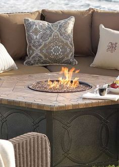 With a handsome design that is beautiful by day or night, the Provenca Gas Fire Table will quickly become your favorite outdoor element you'll want to use year-round.