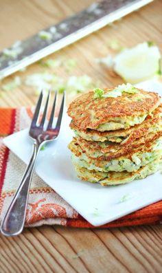 Healthy Zucchini Pancakes #zucchini #pancakes #healthysidedish #weightwatchers