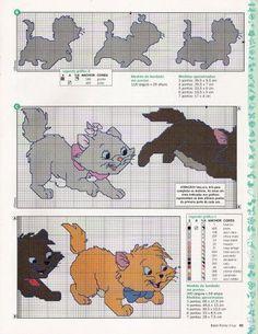 Cross-stitch AristaCats Kittens