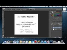 Guide - How to change language on Adobe CC to english - YouTube