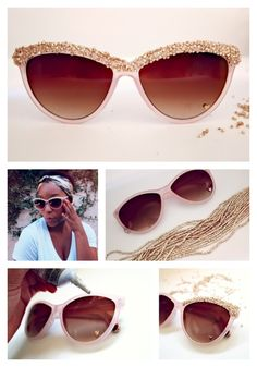 Try super cool and easy diy sunglasses this summer. Use embellishments, paints, sketch pens or tapes and give whole new look to your cheap sunglasses. Cute Sunglasses, Sunglasses Outlet, Oakley Sunglasses, Cat Eye Sunglasses, Sunglasses Women, Sports Sunglasses, Sunnies, Vintage Sunglasses, Cool Diy