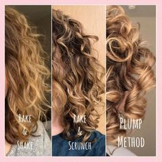 The Plump Method for Big and Bouncy Curls The Plump Method for Styling Curly Ha. The Plump Method Curly Full Lace Wig, Curly Wigs, Curly Weaves, Curly Hair Tips, Curly Hair Care, Different Curls, Hair Lotion, Bouncy Curls, Curly Girl Method