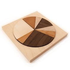 wooden toy geometric puzzle, circle kids toy. $30.00, via Etsy.