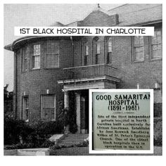 First black hospital in Charlotte, NC