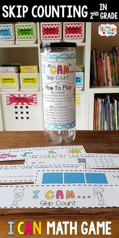 2nd grade math game for SKIP COUNTING. Perfect for math centers, independent practice, whole class review, and progress monitoring. This math game covers ALL Common Core math standards related to skip counting in Second Grade.