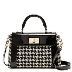 Classic black and white houndstooth