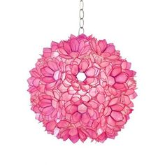 THE WELL APPOINTED HOUSE - Venus Capiz Shell Pendant in Pink - Contemporary Lighting - Lighting