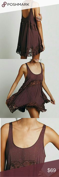 Free People Garnet She Swing Slip Dress New with tags. Perfect condition. No trades. Free People Dresses Mini