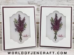 (245) Stampin' Up! - Lots of Lavender Stained Glass Window Card Tutorial - YouTube