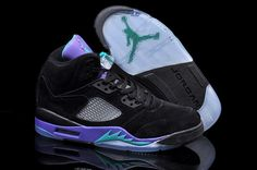 new product c4682 b4197 Now Buy Nike Air Jordan 5 Mens Black Emerald Grape Ice Colors Shoes New  Save Up From Outlet Store at Footlocker.