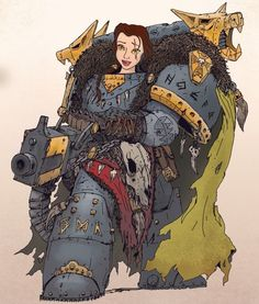 When #Disney Princesses Enter The Warhammer 40k Universe