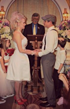 Vintage Wedding New Orleans French Quarter Chapel