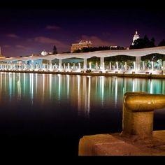 Espectacular vista del Puerto de Málaga