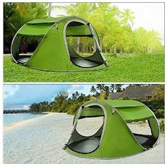 G4Free Large Pop Up Backpacking C&ing Hiking Tent Automatic Instant Setup Easy Fold back Shelter Travelling & Outdoor automatic tents-speed-open-throwing-pop-up-windproof ...