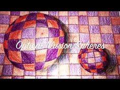 (4) Op Art Sphere Tutorial - YouTube