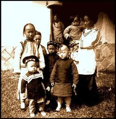 LITTLE KIDS AND THEIR LITTLE FASHIONS in OLD CHINA by Okinawa Soba, via Flickr
