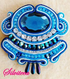 IMG_201504 Soutache Pendant, Soutache Earrings, Hair Decorations, Scarf Hairstyles, Shibori, Beadwork, Techno, Macrame, Ribbon