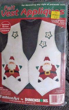 Dimensions 80342  ///  Felt Vest Appliques / Santa Star Vest  ///  1995 #Dimensions