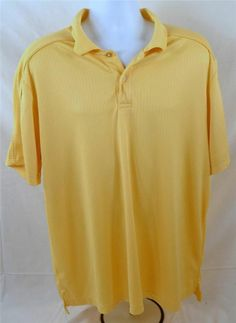 IZOD XFG Cool FX Men's Size XXL 100% Polyester Yellow Golf Shirt