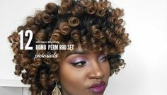 Perm rod set hairstyles are a great way to define your curls and stretch your hair. Here are 12 inspiring photos that show off this style's versatility.