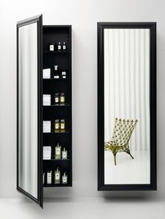Wall Mirror With Storage this sophisticated full-length wall mount mirror stores all of
