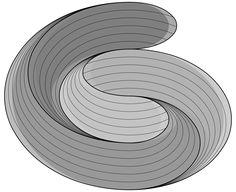 GreniStrek logo.  G and S described by a 3D torsion twisted spiral. #grenistrek #madebymagnusgreni