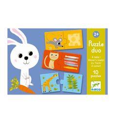 Puzzle duo Qui mange quoi ? Djeco