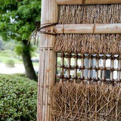 Adachi japanese garden by Morten Albek at Bamboo Wall, Bamboo Fence, Japanese Bamboo, Bamboo Design, Garden Photos, Private Garden, Natural World, Beautiful Gardens, Ladder Decor