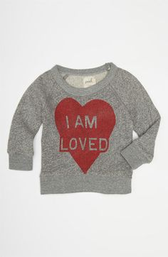 Peek 'I Am Loved' Sweater (Infant) available at Nordstrom (2/13)