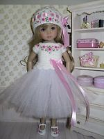 Set for Dianna Effner Little Darling 13 inches doll - blouse, skirt, hat, shoes.