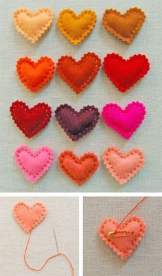 DIY border heartDIY valentine heartFriendship Bracelets Handmade Wholesale LOT 25 MIX From Peru - Jewelry & GiftsFantastic craft ideas for Valentine's Day for children and adults. Have a sweet Valentine's Day with these cute Diy Craft Projects, Easy Sewing Projects, Sewing Crafts, Diy Crafts, Sewing Diy, Felt Projects, Knitting Projects, Sewing Tutorials, Valentines Bricolage