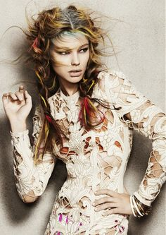 This is a lacy version of what my abstract crochet designs look like...I would definitely wear this! So versatile