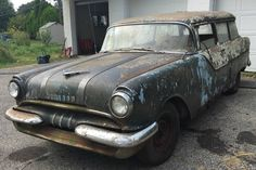 Visionary Needed: 1955 Pontiac Two Door Wagon - http://barnfinds.com/visionary-needed-1955-pontiac-two-door-wagon/