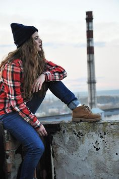 Shop this look on Kaleidoscope (shirt, jeans, boots, hat)  http://kalei.do/WTF7rkJMNSkP7nHb